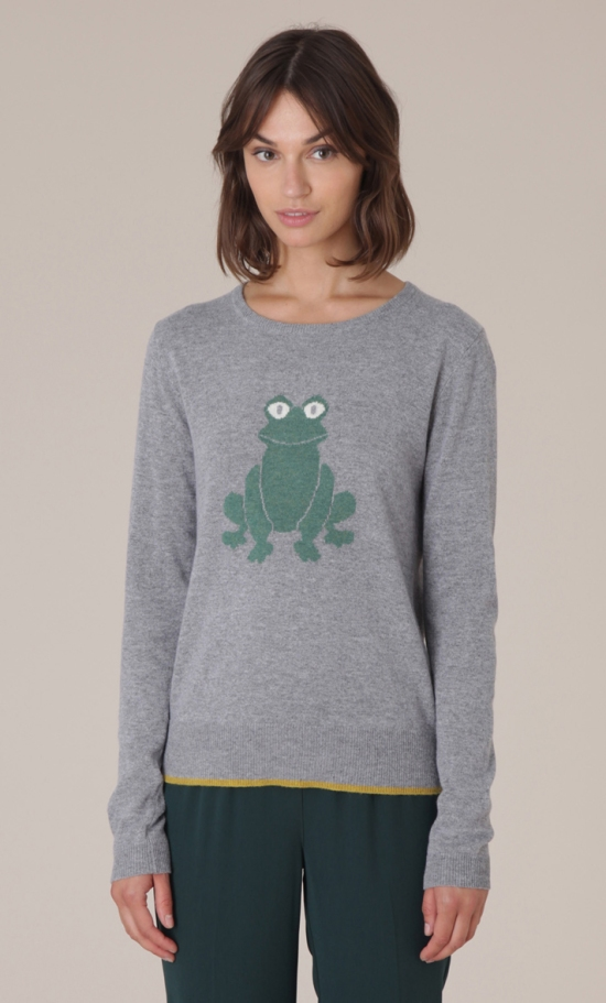 grey frog