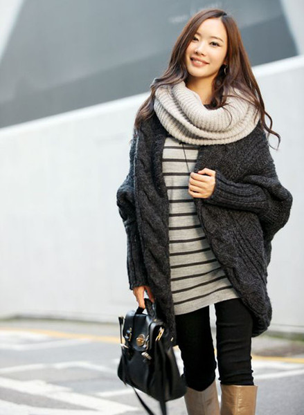 batwing-sleeve-loose-style-slouchy-knit-pattern